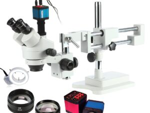 microscop trinocular camera 7x 90x lucky zoom